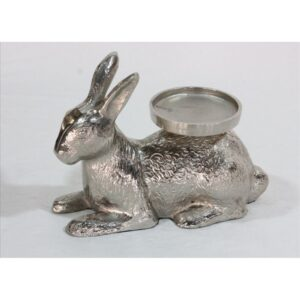 Silver Bunny Aluminium Rabbit Candle Holder