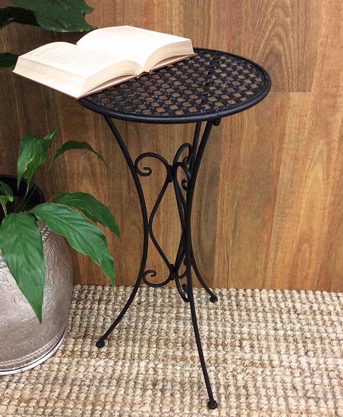 Tall Black Metal Flower Display Pot Plant Stand