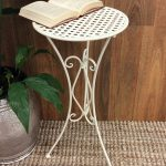 Tall Cream Metal Pot Plant Stand