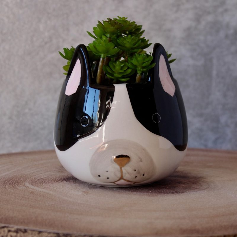 French Bulldog Ceramic Pot Planter