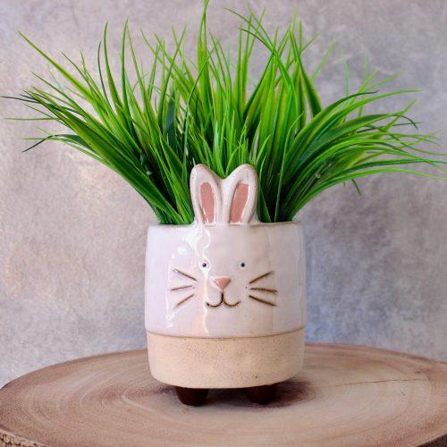 Ceramic Bunny Planter With Legs