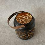 Copper Black Moroccan Floral Hurricane Candle Lantern_14