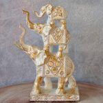 3 Elephant Stack Statue