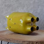 Green Fox Ceramic Pot Planter_6