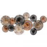 Large Abstract Floral Circles Metal Wall Art
