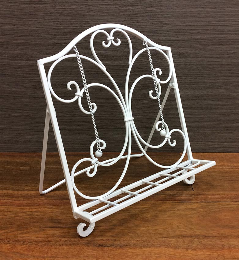 Metal Scroll Cook Book Stand Recipe Holder