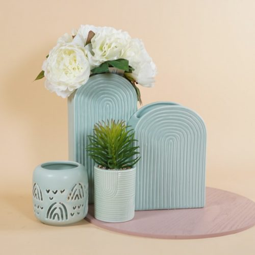 Mint Rainbow Cutout Tealight Holder