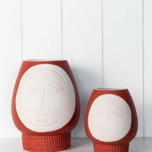 Modern Face Ceramic Decorative Vase