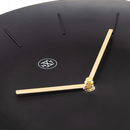 NeXtime Black Bowl Wall Clock with Pendulum