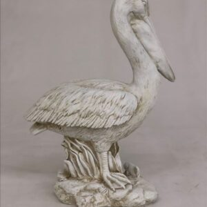 Set of 2 Pelican Bird Resin Sculpture Statue