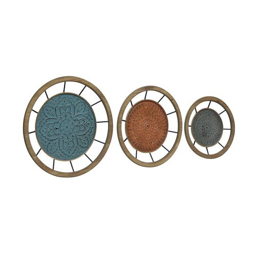 Set of 3 Nested Floral Metal Wall Art