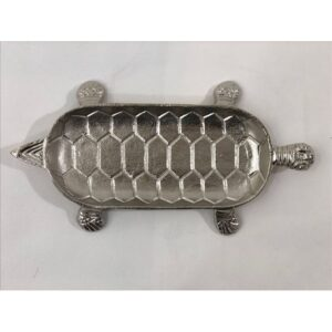 Silver Turtle Metal Serving Tray