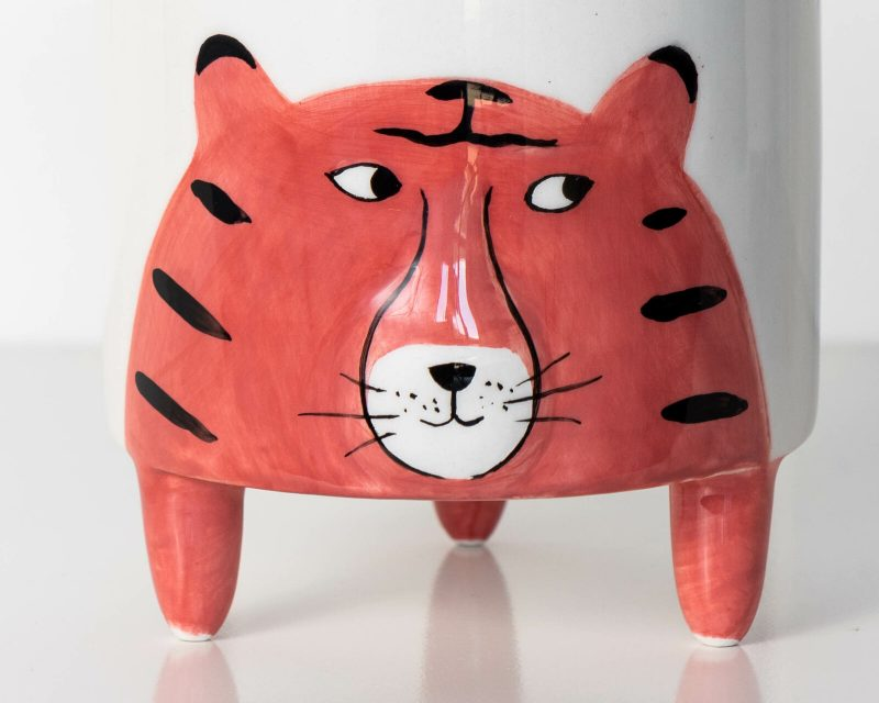 Tiger Animal Ceramic Pot Planter
