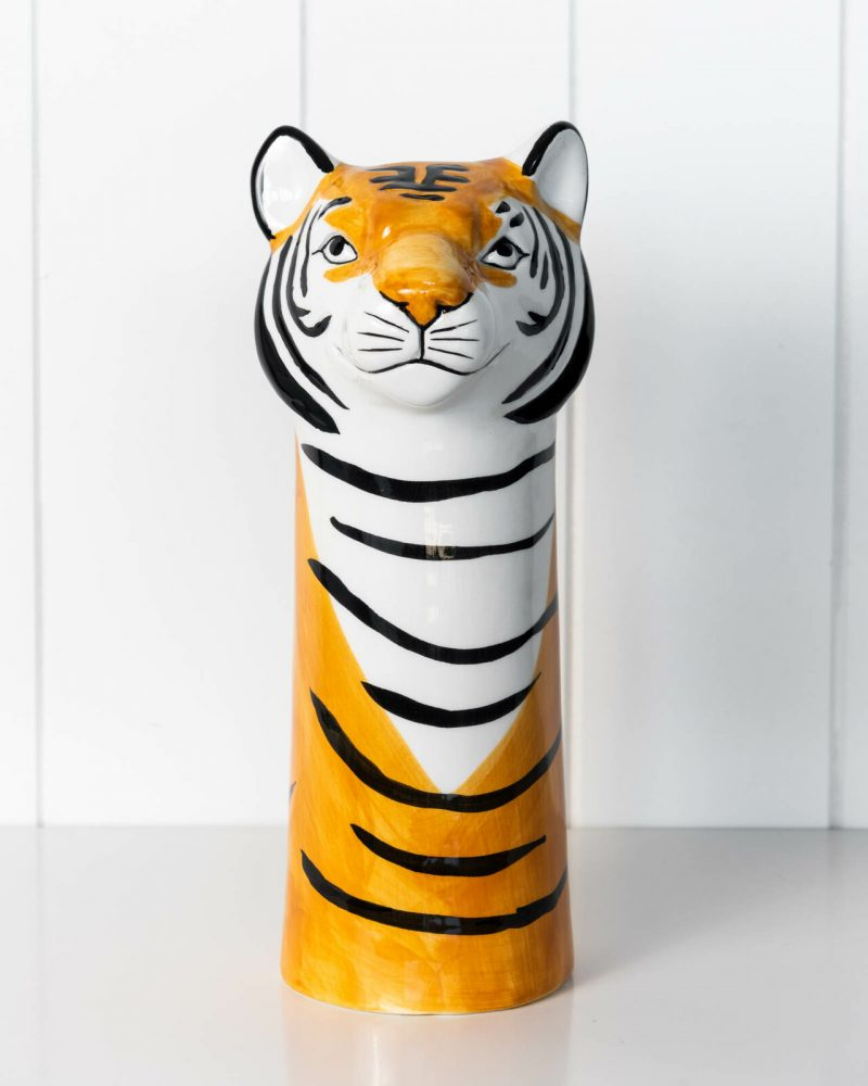 Tiger Ceramic Decorative Floor Vase