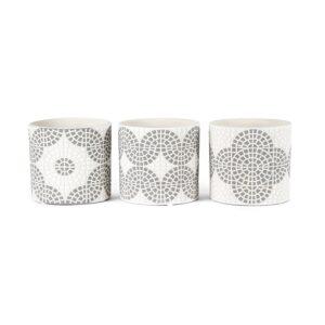 White and Grey Terracotta Pot Planter