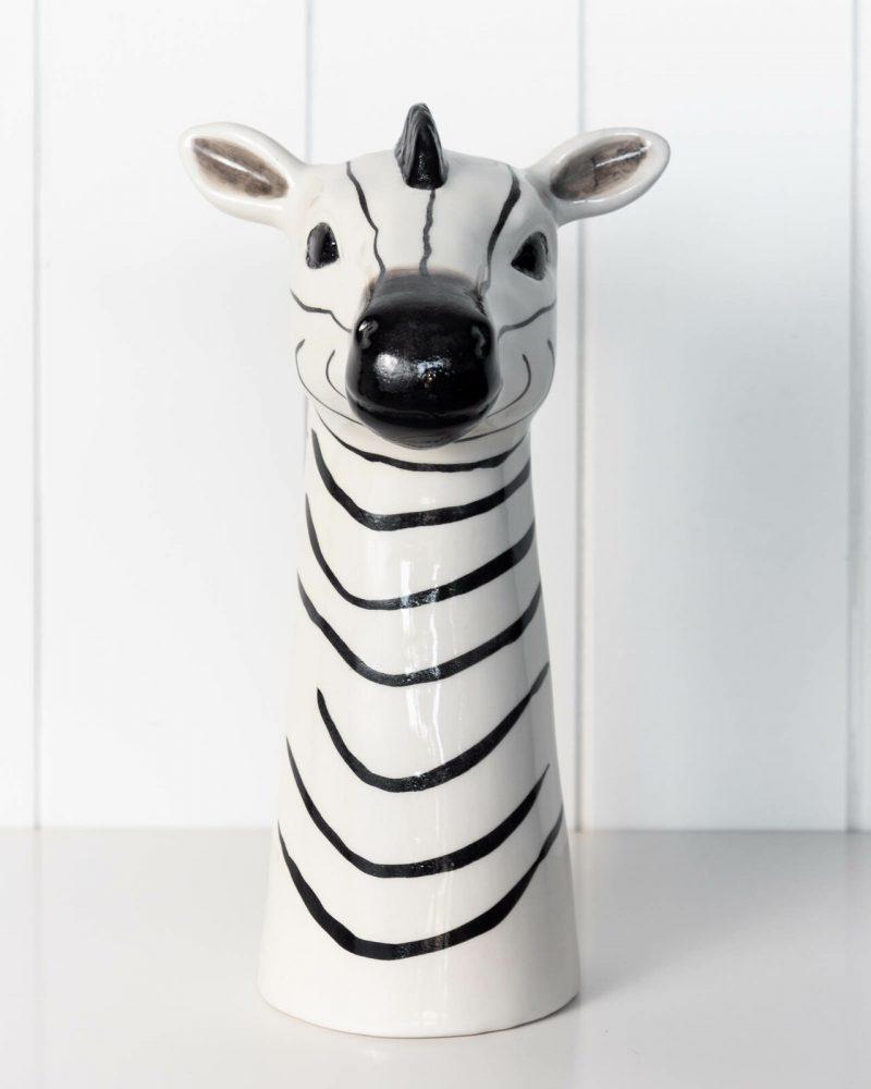 Zebra Ceramic Decorative Floor Vase