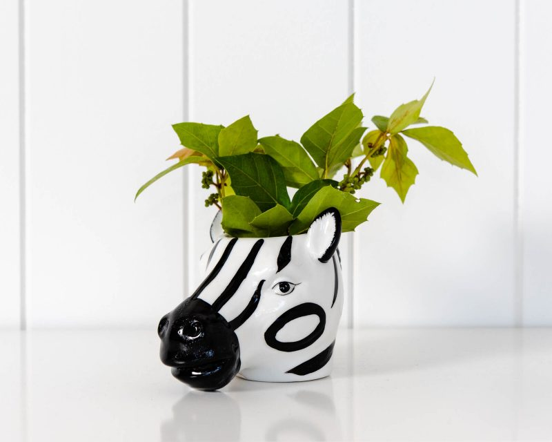 Zebra Planter Ceramic Animal Pot