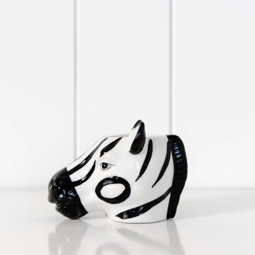 Zebra Planter Ceramic Animal Pot