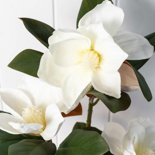 Artificial Magnolia Plant with Potted Flowers