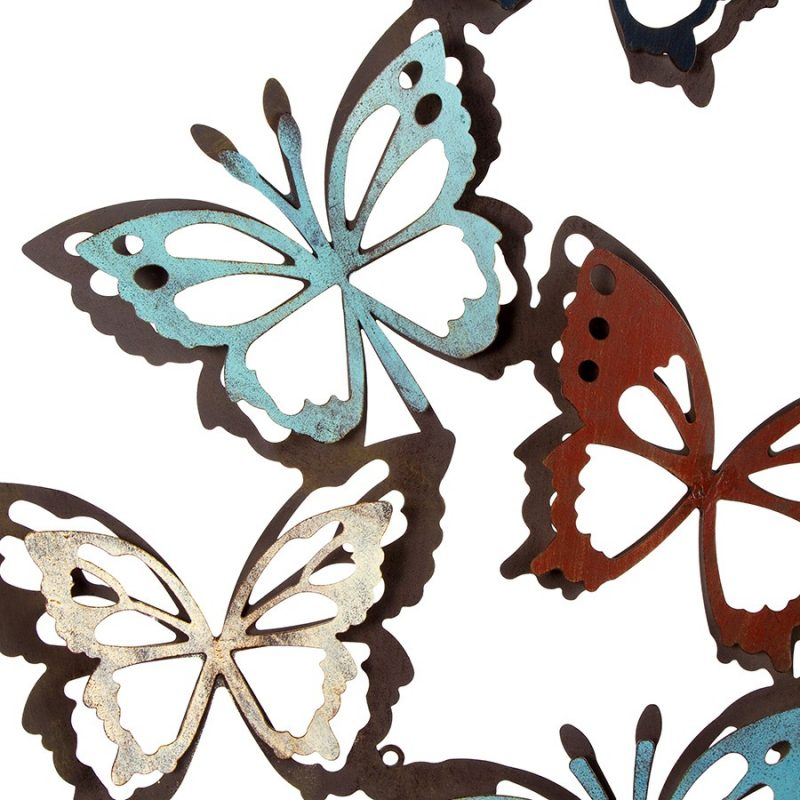 Butterfly Metal Art Rustic 3D Wall Decor
