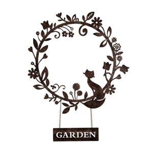 Cat Garden Wreath Decor Laser Cut Metal Wall Art