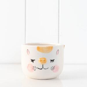 Cheeky Cat Ceramic Pot Planter