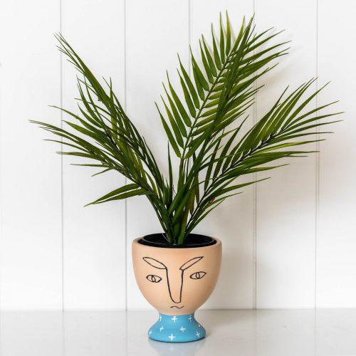 Modern Face Planter Handmade Terracotta Pot