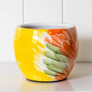 Modern Handmade Ceramic Brush Pot Planter