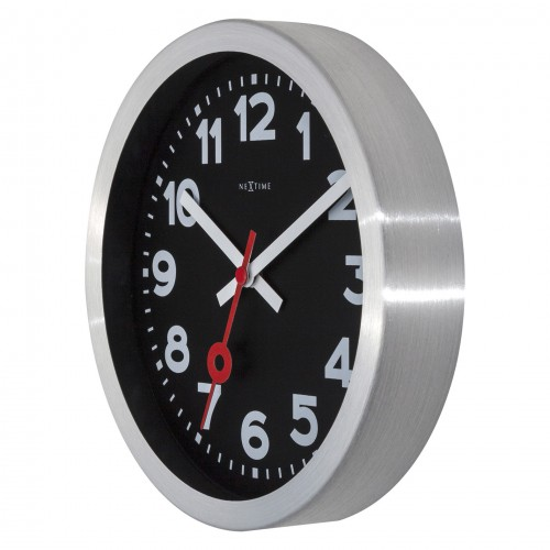 Black NeXtime Silent Table and Wall Clock