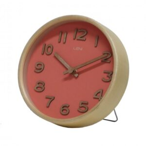 Coral Leni Wooden Table and Wall Clock