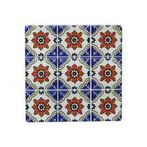 Floral Coasters Ceramic Square Drink Holder- Set of 4