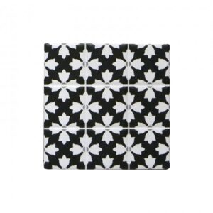 Floral Tile Ceramic Coasters Square Drink Holder- Set of 4