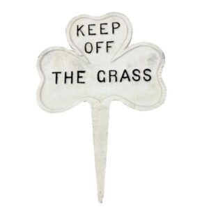 Keep Off The Grass Cast Iron Garden Lawn Sign