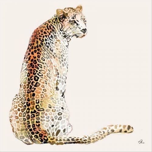 Leopard Framed Canvas Animal Print Wall Art
