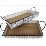 Modern Metal Serving Tray – Set of 2