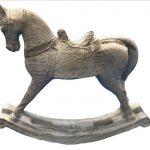 Rocking Horse Statue Resin Figurine