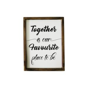 Together Farmhouse Sign Rustic Handmade Wall Art