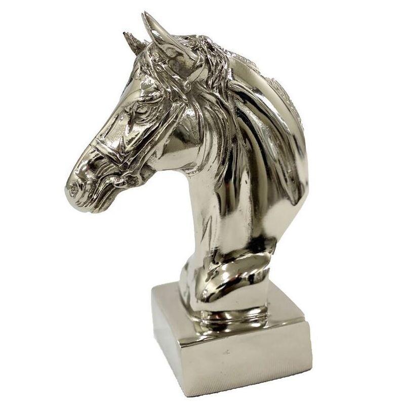 Aluminium Horse Bust Head Animal Statue
