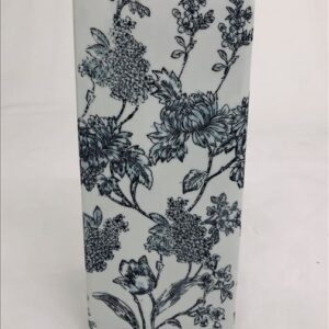 Black Blue Floral Ceramic Temple Ginger Jar