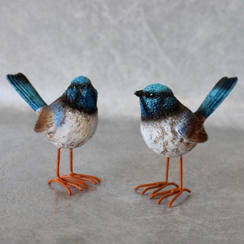 Blue Wren Bird Mini Figurines