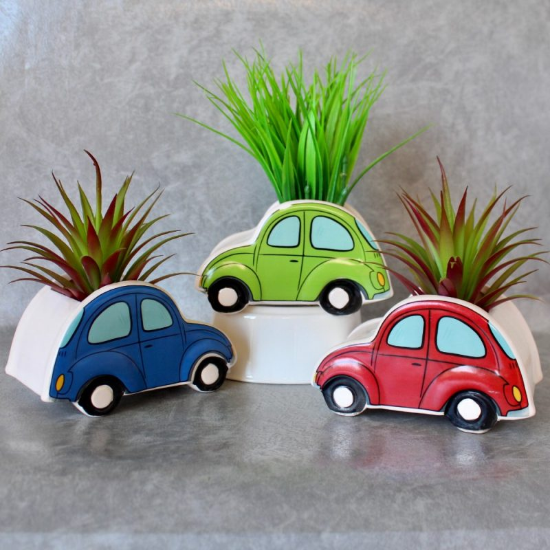 Ceramic Beetle Car Pot Planters