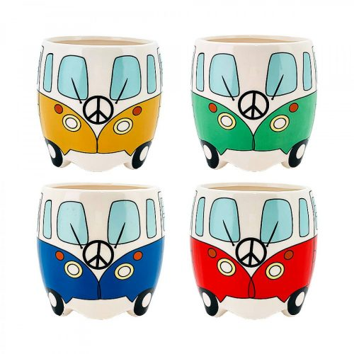 Colourful Bus Shape Ceramic Pot Planter