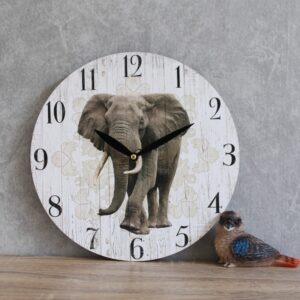 Elephant Animal Wall Clock