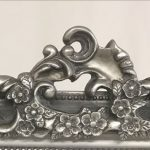French Ornate Silver Wooden Wall Mirror_!