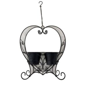 French Style Double Metal Hanging Pot Planter