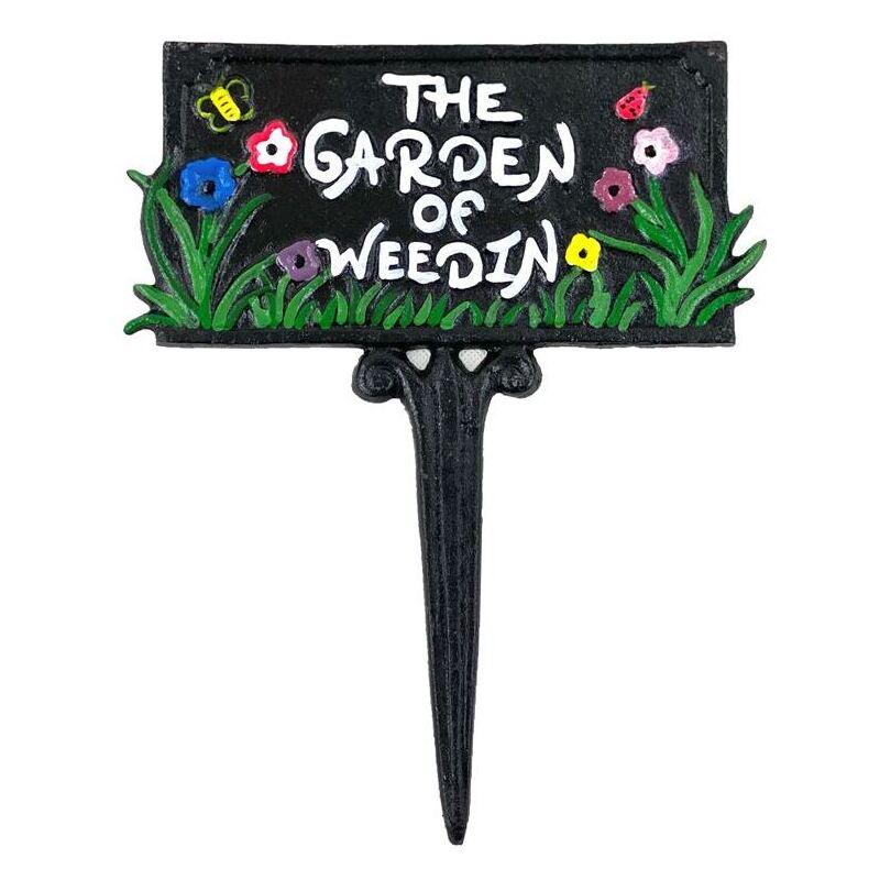 Garden Of Weedin Cast Iron Garden Lawn Sign
