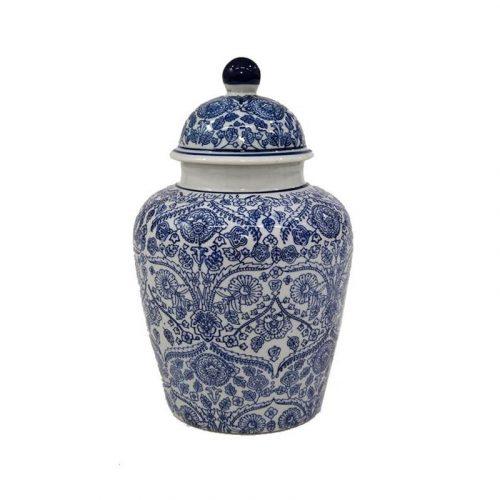 Hamptons Blue Willow Ceramic Ginger Jar