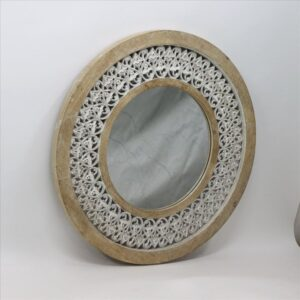 Hamptons Coastal White Wooden Wall Mirror