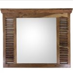 Hamptons Window Acacia Wood Wall Mirror