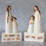 Loving Mother And Daughter Resin Statue both